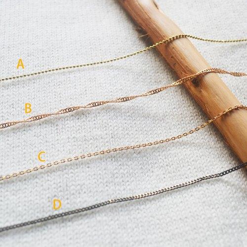 金屬銅鍊-客製尺寸/可搭配銅片[項鍊/禮物]