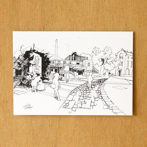 【一色】系列手绘风景明信片『台湾 华山文化园区』
