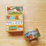 ASAMIDORI 花邊造型 訊息和紙膠帶【小松鼠 (AM-MK-039)】