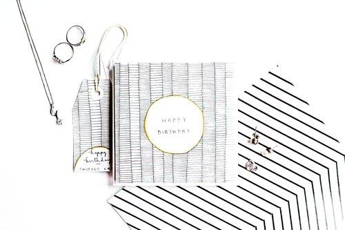 全手绘. 无印刷. (客制化) 生日/感谢/祝贺卡片 - 线