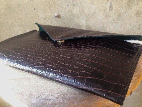 【手拿包/側揹包/信封包Dream Bag-質感深暗紅咖啡皮革款】