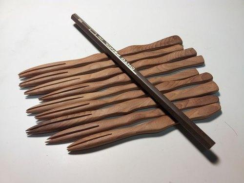 台灣紅豆杉手工木叉子