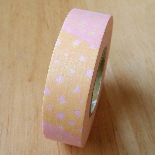 NICHIBAN Petit Joie Masking Tape 和紙膠帶【幾何拼貼 (PJMT-15S004)】