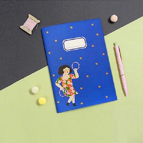 Dessin x Jamstudio-Du-dum心跳時刻條紋筆記本-04舞蹈女孩,JSD78957
