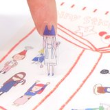 右手超人割型透明小貼紙 / 第四組
