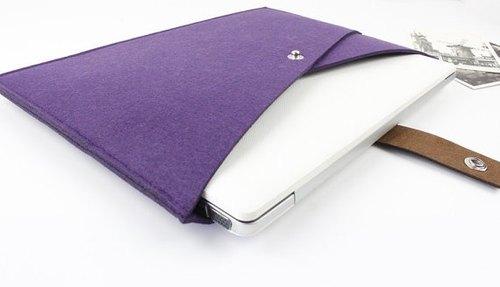 """原創純手工 紫色 毛氈 蘋果 電腦保護套 毛氈套 筆電包 15吋 電腦包 MacBook 15.4"""" Pro 15吋電腦包 (可量身訂製) - 007"""