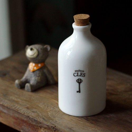 U-PICK原品生活 复古陶瓷精油瓶--钥匙 创意水培花器 花瓶 花插