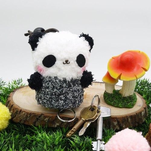 棉花糖动物钥匙包-中钥匙包(熊猫)