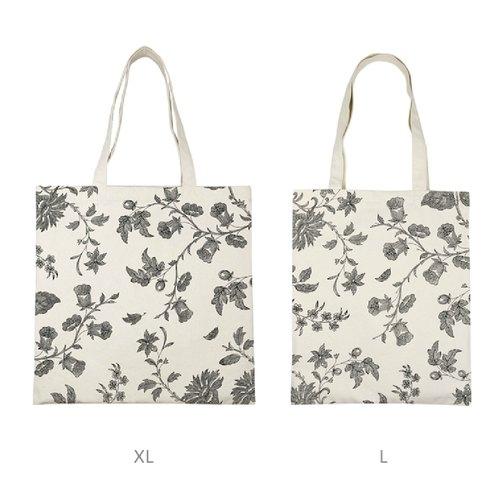 植物线描 帆布袋 帆布包(xl)