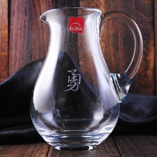【MSA分酒器】書法中文字 捷克RONA無鉛水晶玻璃分酒器 紅酒分酒壺 公杯 書法雕刻