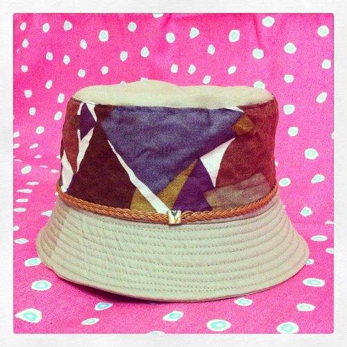 超商取货 手工制作 台湾出品 原创设计 手工制作 几何拼接渔夫帽 懒