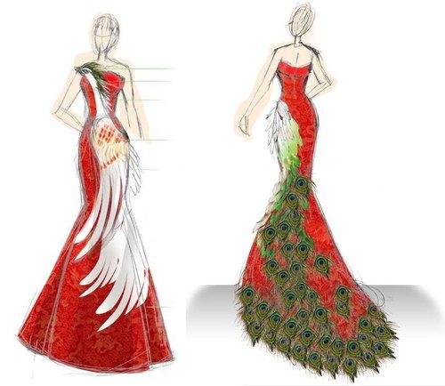 婚纱礼服作品 手稿设计图展示 接受订做 自助婚纱wedding 订制婚纱