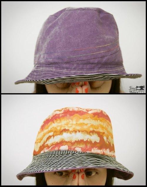 全球配送 手工制作 超商取货 台湾出品 原创商品 双翻面渔夫帽 这款式