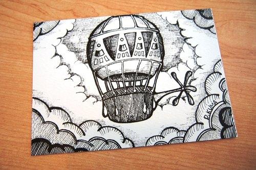 热气球手绘素材