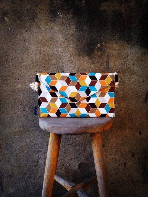 【手拿包/側揹包/信封包Dream Bag-立體幾何正方體特殊包款】
