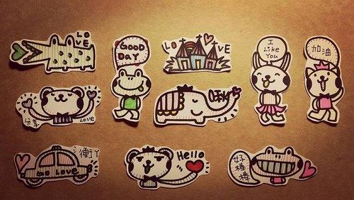 love/手绘小贴纸