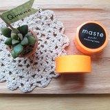 maste Masking Tape 和紙膠帶 Basic 亮眼螢光系【螢光橘 (MST-MKT07-OR)】