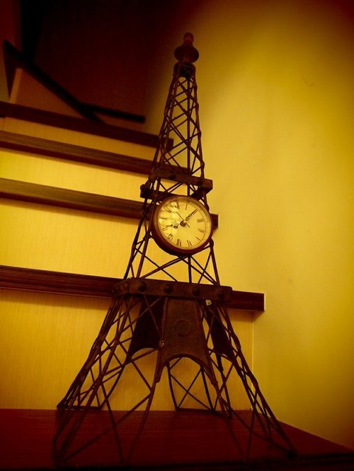 复古工业风 法国巴黎铁塔时钟