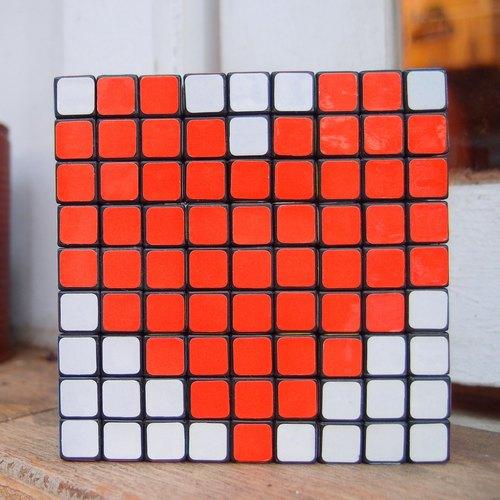 方块拼图-爱心-婚礼布置