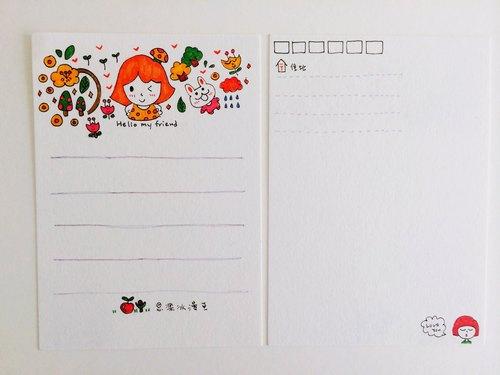 商品说明及故事 / 思乐冰手绘明信片 明信片都是我手绘纯手工制作