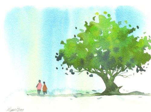 保护环境手绘海报