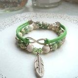蜜絲葉松石手環-綠色-2條
