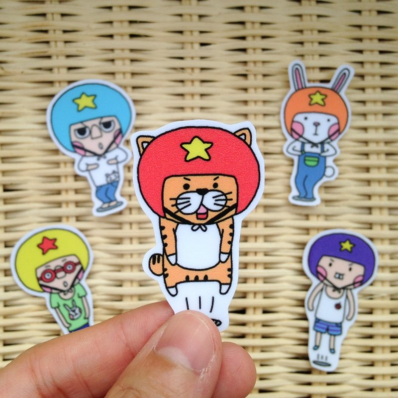 LeeP手繪貼紙-一起來跳BarBarBar! - LeeP's Doodle | Pinkoi