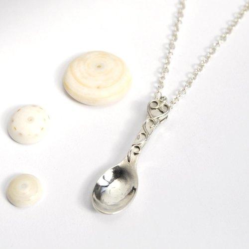 愛心純銀湯匙項鍊