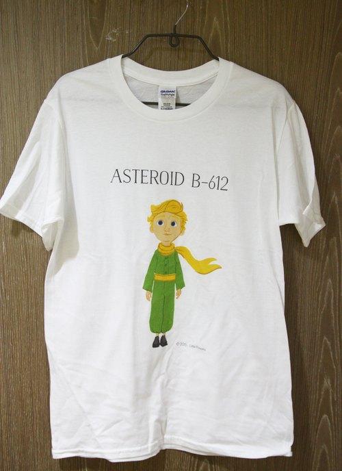 小王子電影版授權 - T恤:【 ASTEROID B-612 】兒童短袖 T-shirt ( 白 )