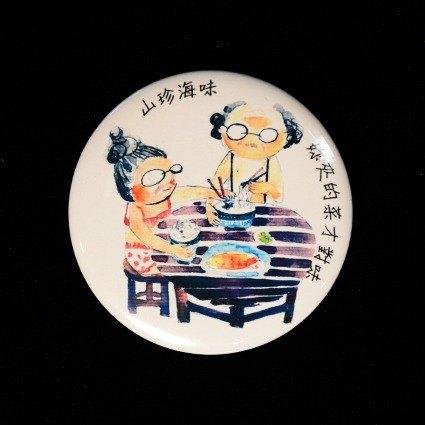 手绘徽章-夹菜