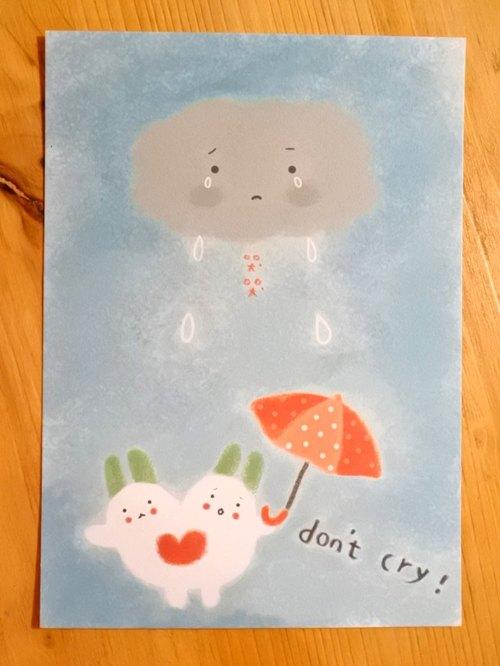 Dream Carrot 好心意明信片 【Don't cry / 不哭不哭】