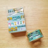ASAMIDORI 花邊造型 訊息和紙膠帶【企鵝 (AM-MK-042)】