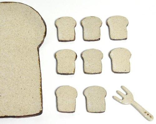 Mini 吐司形狀陶磚