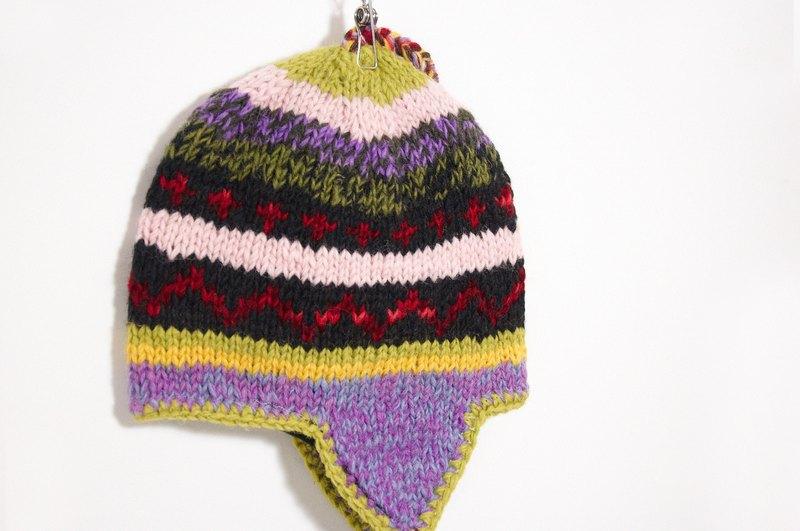 西洋情人节礼物 手工编织纯羊毛帽 / 飞行毛帽 / 针织