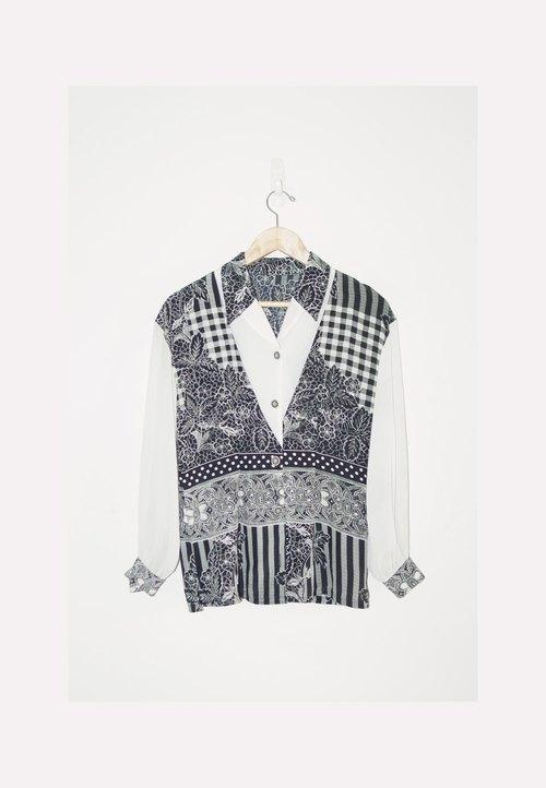 恰丸与猫~中世纪黑白花纹奢华衬衫