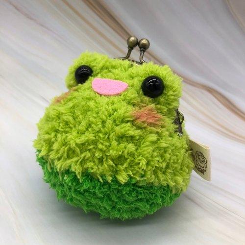 毛线编织动物零钱包 口金包-青蛙
