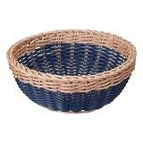 【新品】CB拉丁系列可水洗置物籃 圓弧型 仿藤雙色-藍(共3色)