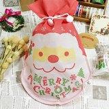 日本 amifa Xmas 聖誕禮物袋.束口袋【耶誕老公公(28829)】