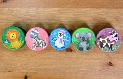 爱动物也爱地球 ╳ 手绘瓶盖磁铁~~环保系列