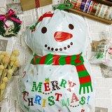 日本 amifa Xmas 聖誕禮物袋.束口袋【雪人(28782)】
