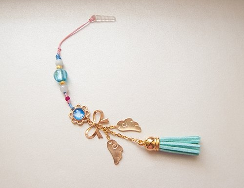 藏银.蝴蝶结.翅膀.可爱.韩国绒麂皮流苏.水晶泡泡.珠宝线.绳结.铜)