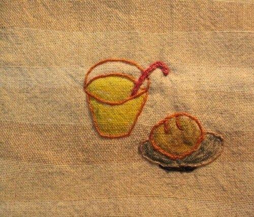 刺绣杯垫(图案)
