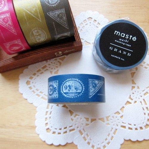 maste Masking Tape 和紙膠帶【郵票-海軍藍 (MSG-MKT25-NV)】