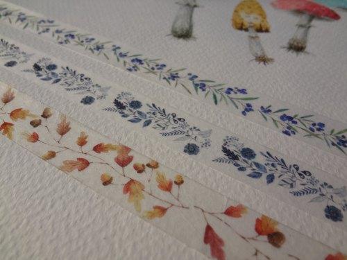 水彩手绘纸胶带~图腾系列一组3款