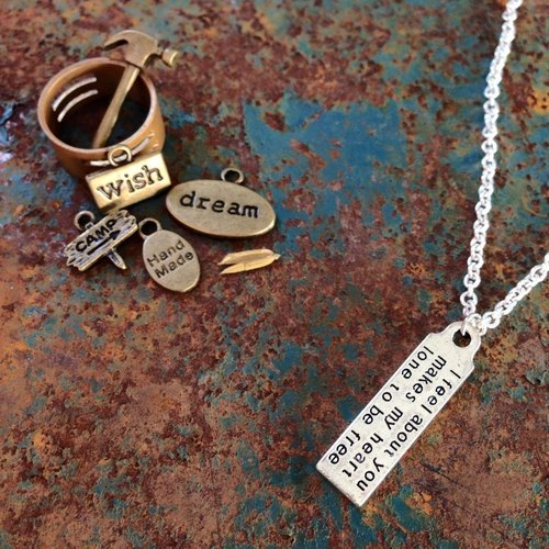 【Story Necklace 故事項鍊】 I feel about you makes my heart lone to be free