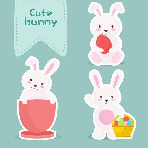 幼儿园卡纸手工制作兔子