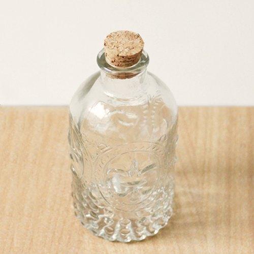 U-PICK原品生活 复古雕花玻璃瓶 木塞许愿瓶水培花瓶花器花插