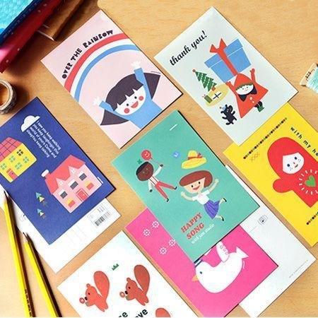 商品说明及故事 / jamstudio推出超萌明信片组(7入),手绘插图童趣可爱