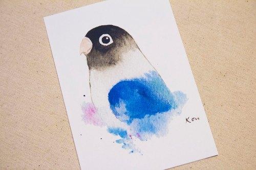 紫罗兰牡丹 手绘水彩风格明信片