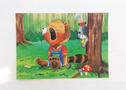樹下的小浣熊